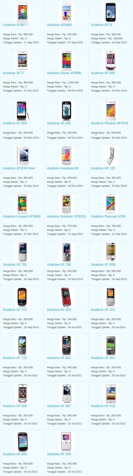 Daftar Harga Hp Asiafone Desember 2015