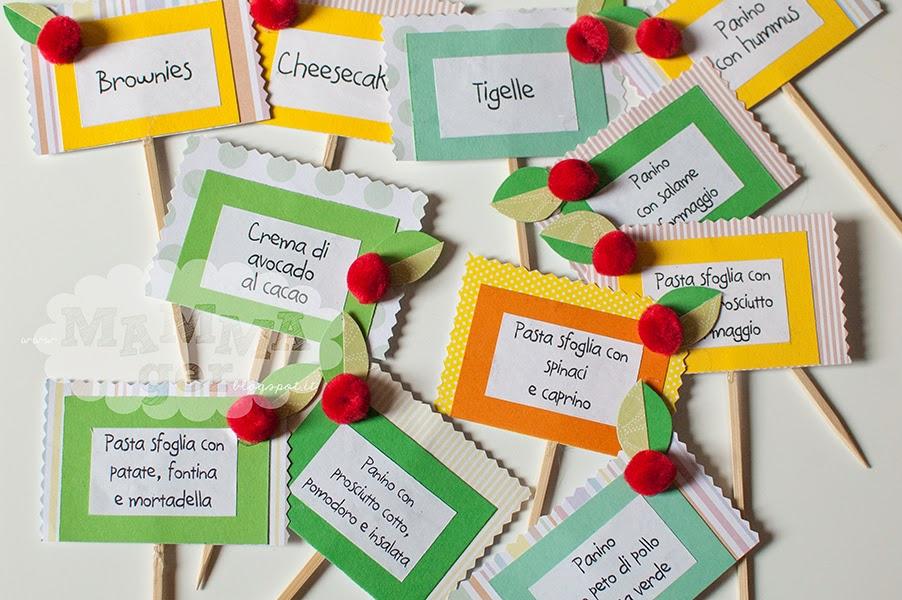 Assez MAMMAger: 1° compleanno di Adele: le etichette per i nomi dei piatti CC56