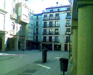 Plaza del Mercado en Barbastro (Somontano, Huesca, Aragón, España)