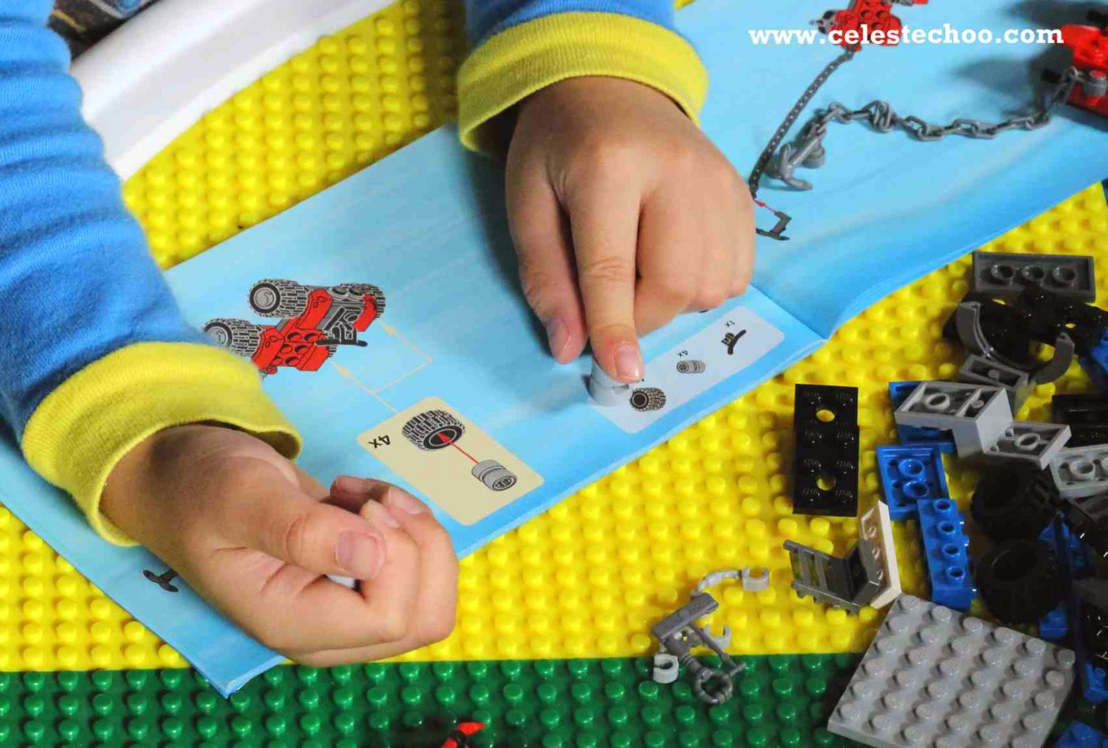 kids-hands-fixing-lego-city-police-truck-toy