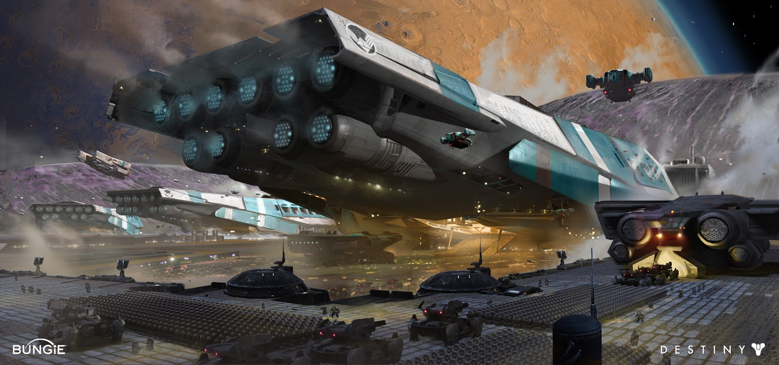 These are early concepts for the cabal staging area and large