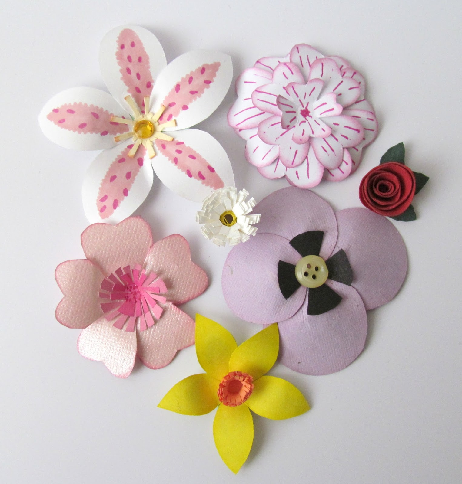 Pink Flamingo Handcrafting How To Make A Paper Daisy