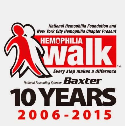 Our Tenth  NYC Hemophilia Walk will take place on May 31  -  Click on the image below to learn more