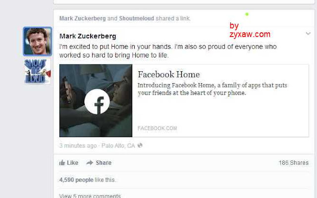 What is Facebook Home app for Android devices?