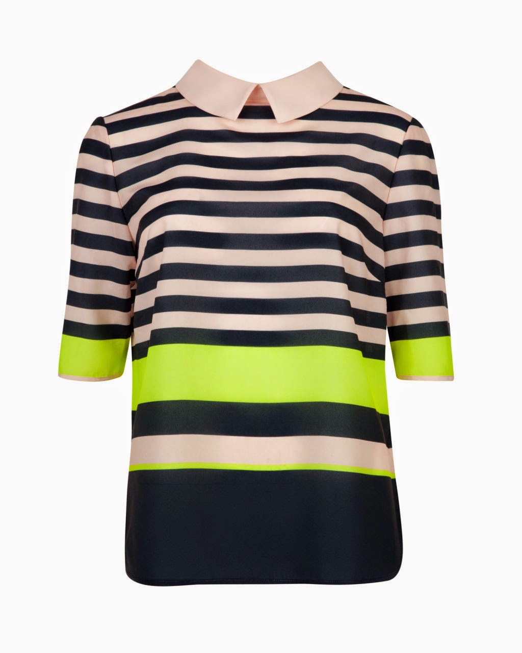 black stripe ted baker top