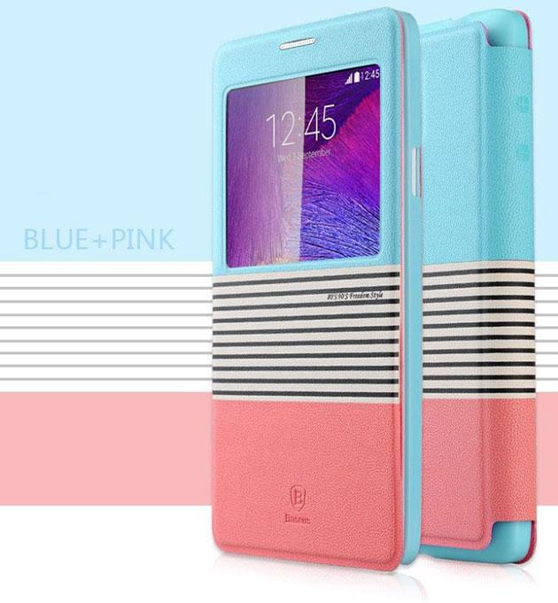 เคส Note 4 ฝาพับ Eden 141051 สีฟ้า-ชมพู