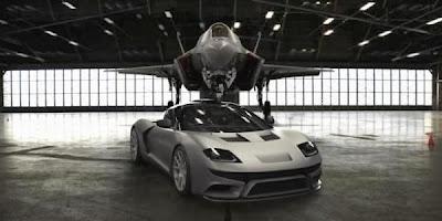 Desain Supercar Ini Terinspirasi dari Jet Tempur