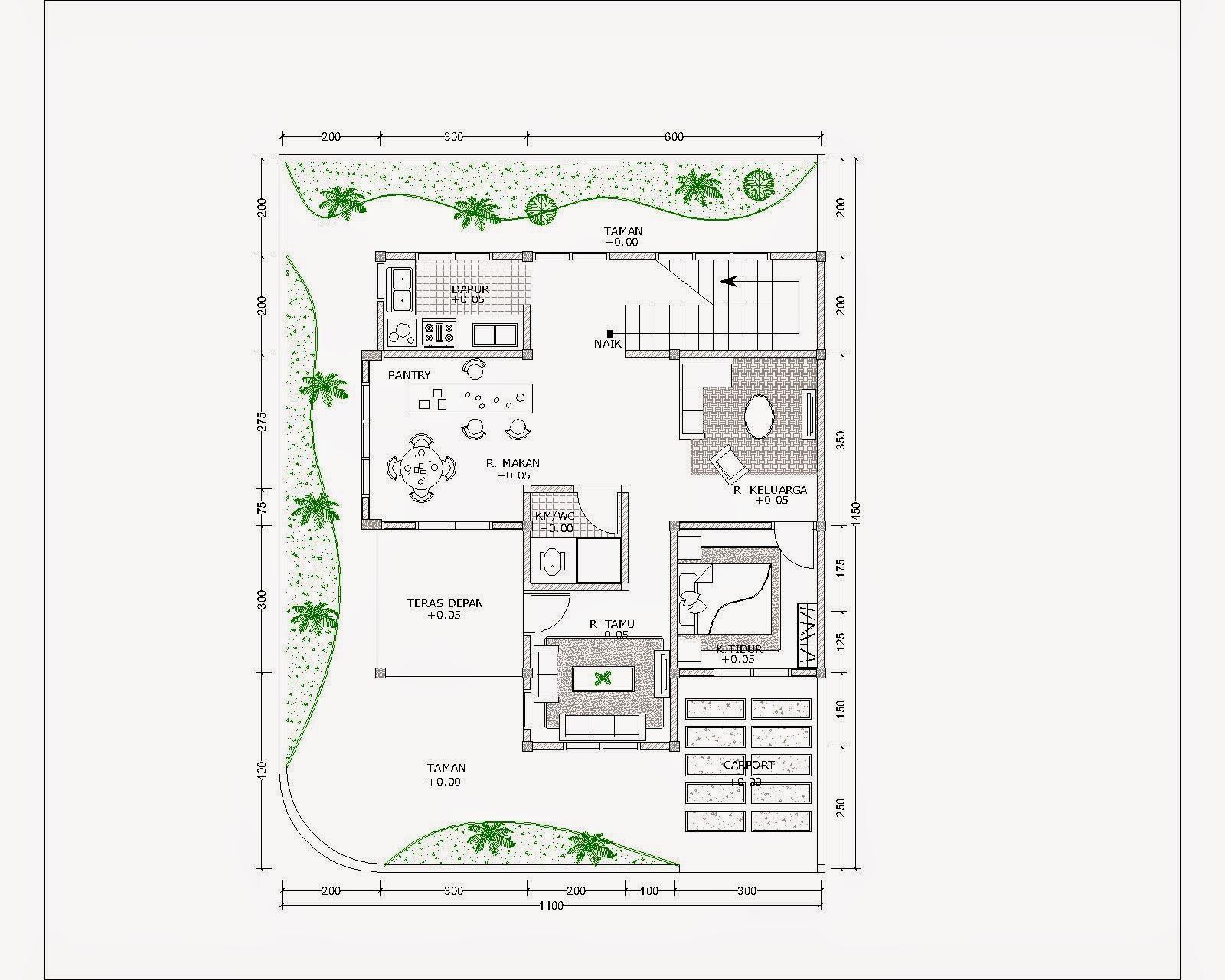 Contoh Gambar Denah Rumah Minimalis Menggunakan Autocad ...
