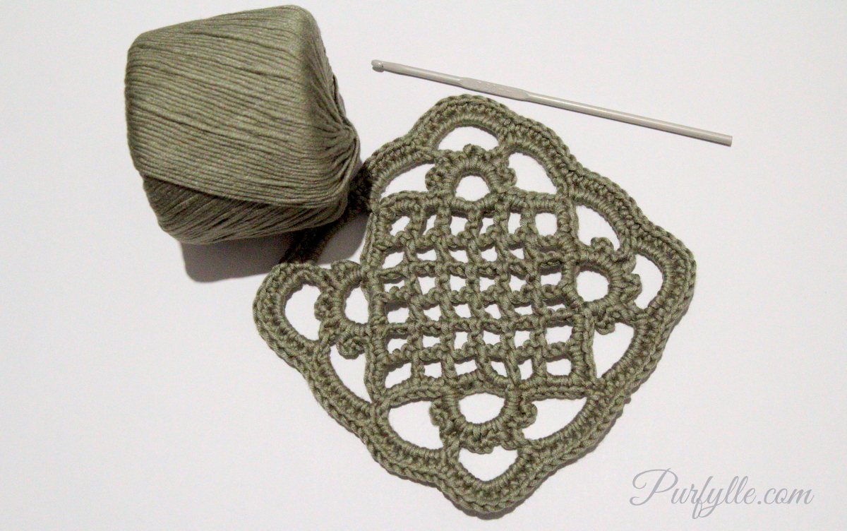 Crochet Granny Square Somalia Pattern : Purfylle: Eivors Crochet Granny Square Pattern