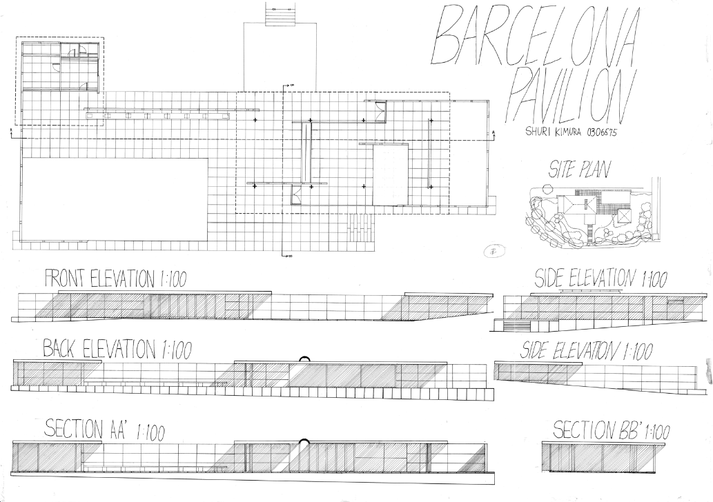 Barcelona Pavilion Exterior 5 Barcelona Spain Skyline