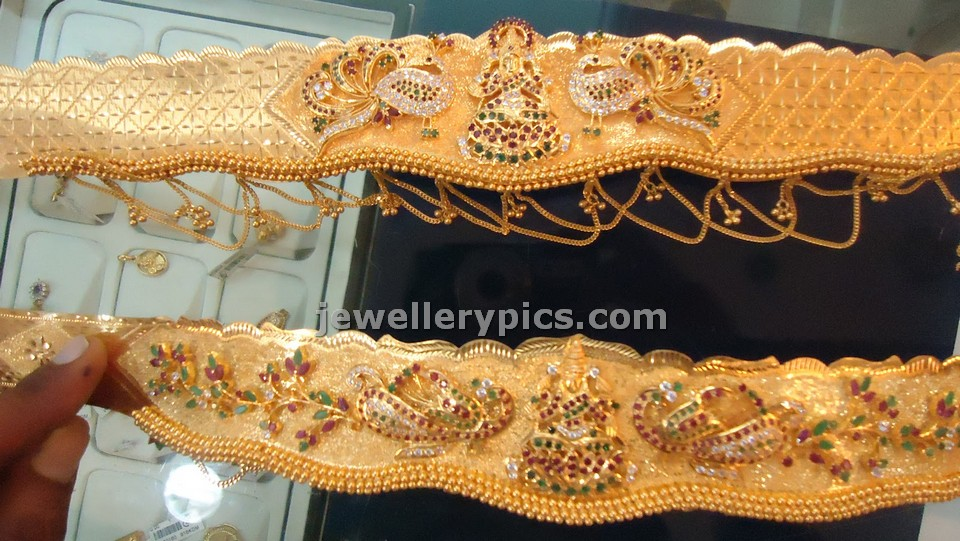 Light weight gold vaddanam designs - Latest Jewellery Designs