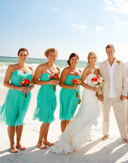 Johnathan b drew 39 blog turquoise bridesmaid dresses add for Turquoise bridesmaid dresses for beach wedding