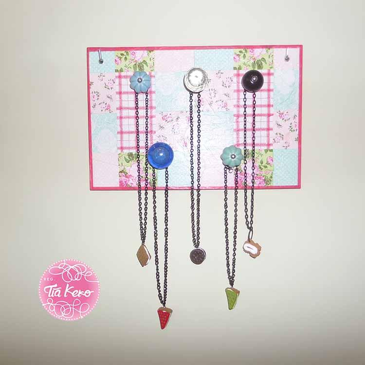 Manualidades con ni os colgador de pared para collares - Colgador de collares ikea ...