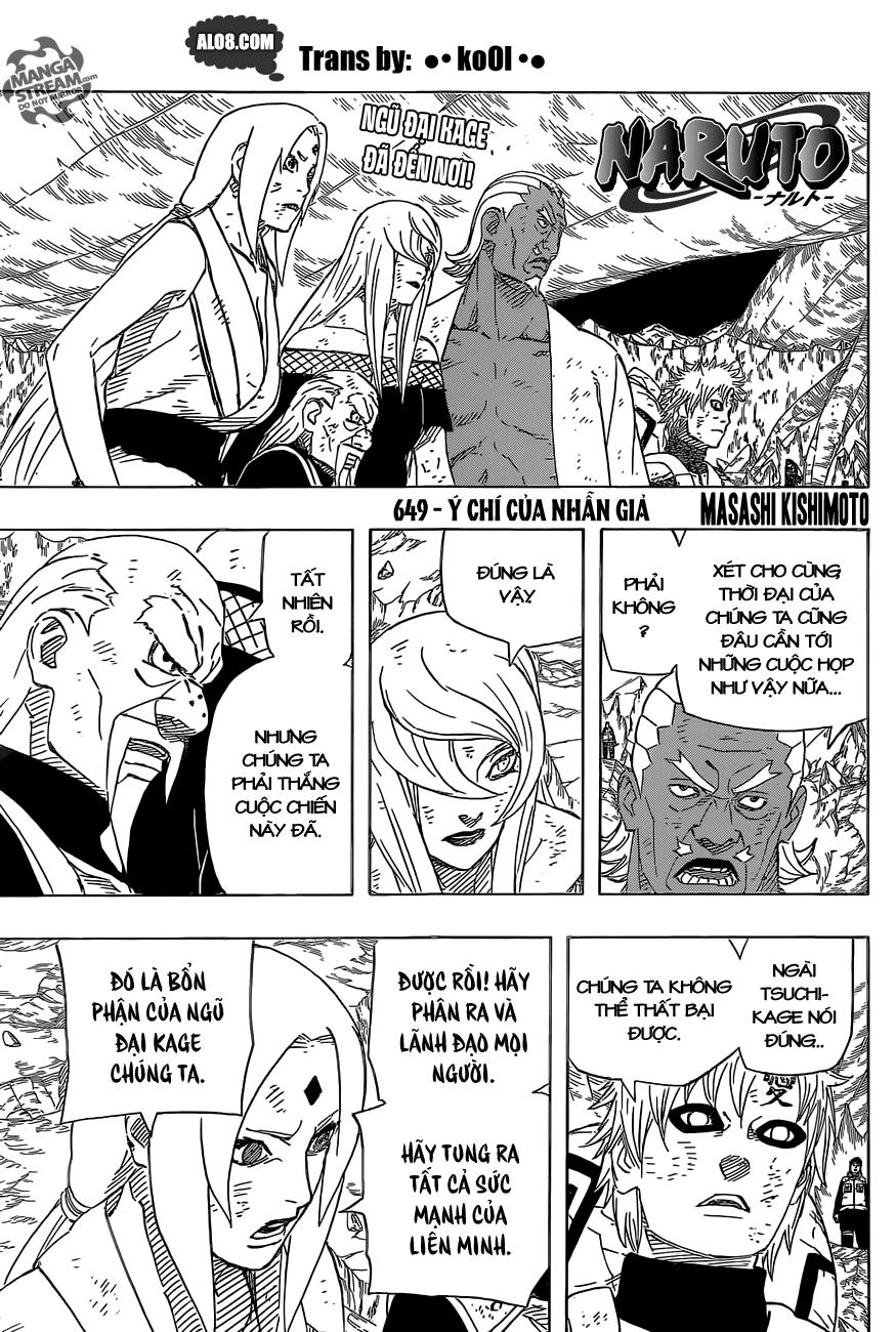 Naruto chap 649 Trang 1