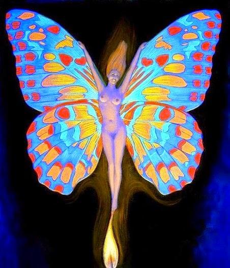 Crescita reiki la farfalla il simbolo alchemico - Immagini di farfalle a colori ...