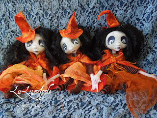 witch art doll, lulusapple, art doll, lulu lancaster