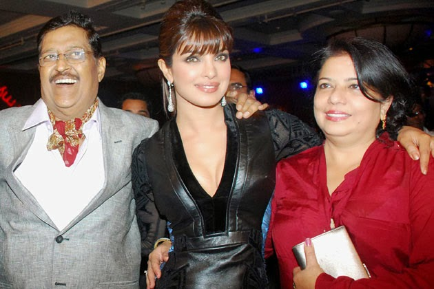 Priyanka Chopra with Father and Mother