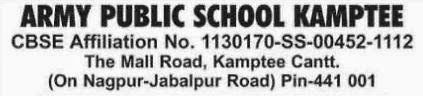 Army Public School Kamptee Nagpur Job Vacancy Sep 2013