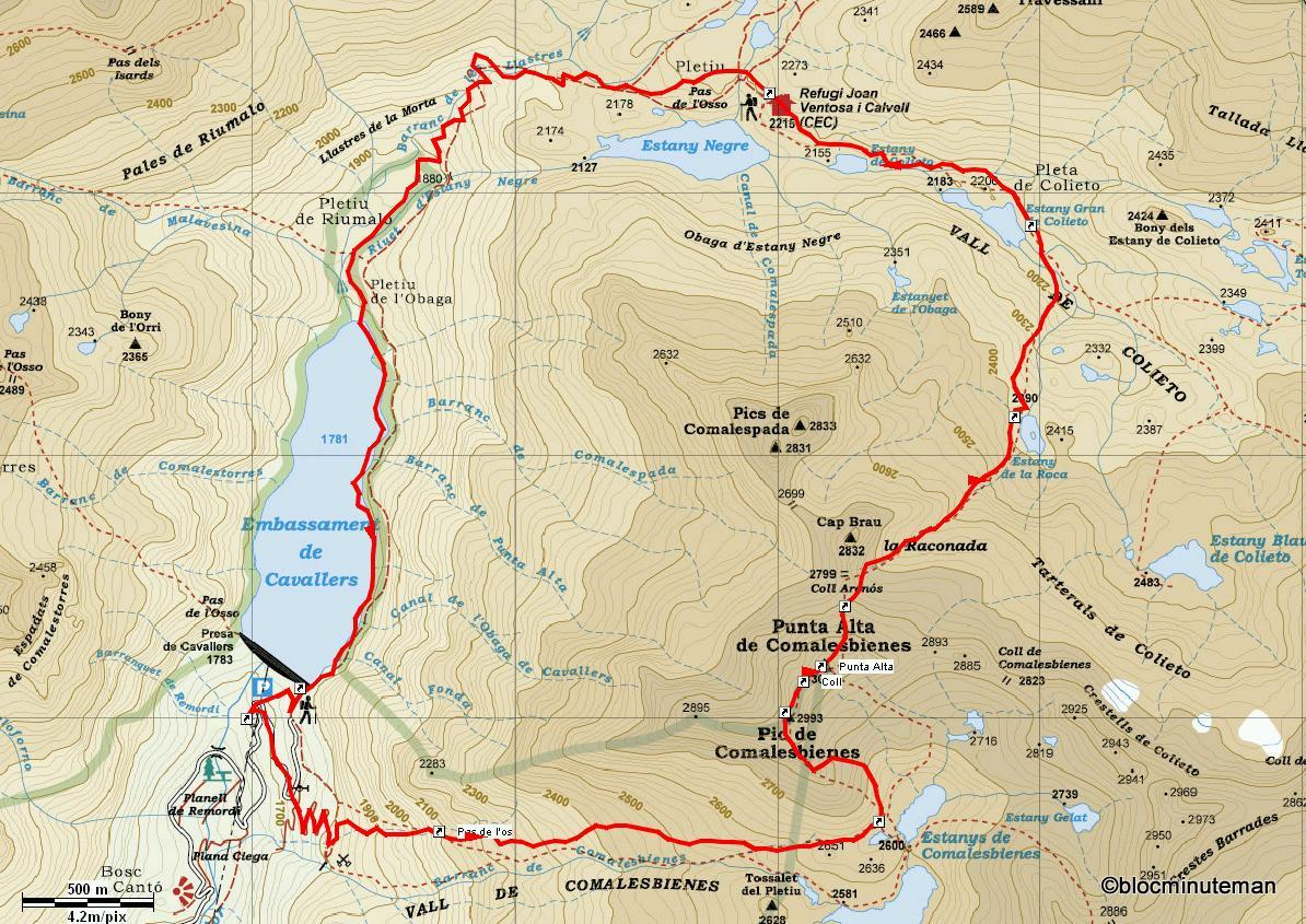 Caminando hacia la cumbre pico comalesbienes y punta alta ascensin al pico de comalesbienes y al punta alta desde el embalse de cavallers vall de boi lrida por el barranco de comalesbienes y descenso por el altavistaventures Choice Image
