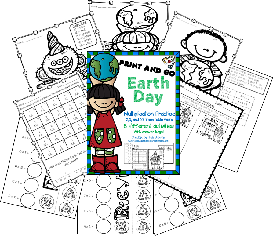 http://www.teacherspayteachers.com/Product/Earth-Day-Multiplication-Print-and-Go-1209157