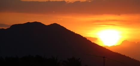 Sunset of Mount Makiling