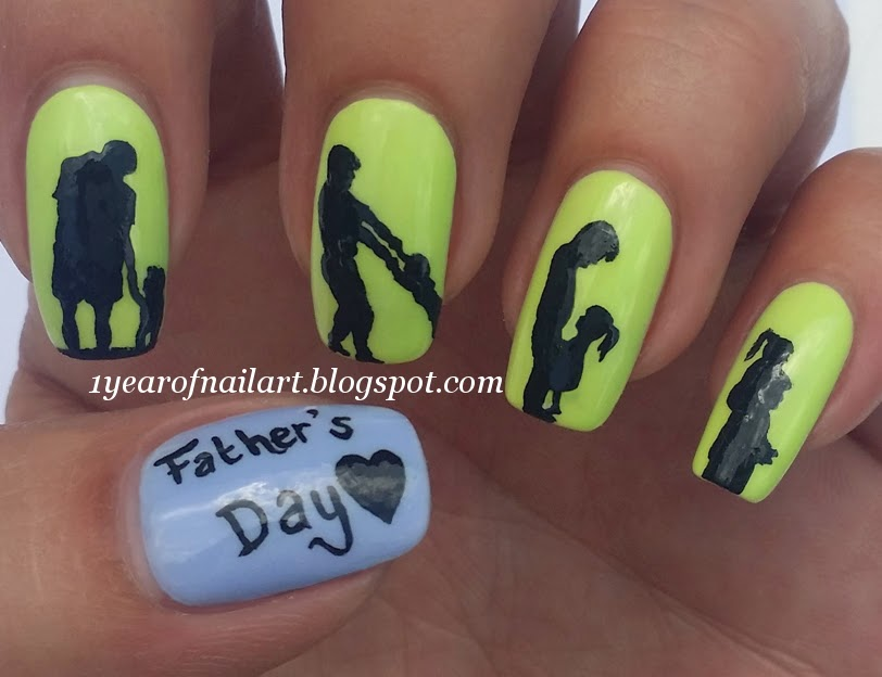 365+ days of nail art: Father\'s Day nails