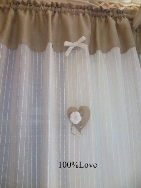 100%love: tende country/shabby - Tende Country Per Camera Da Letto