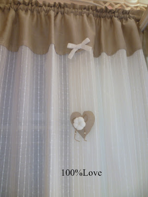 100 love tende country shabby - Tende country per camera da letto ...