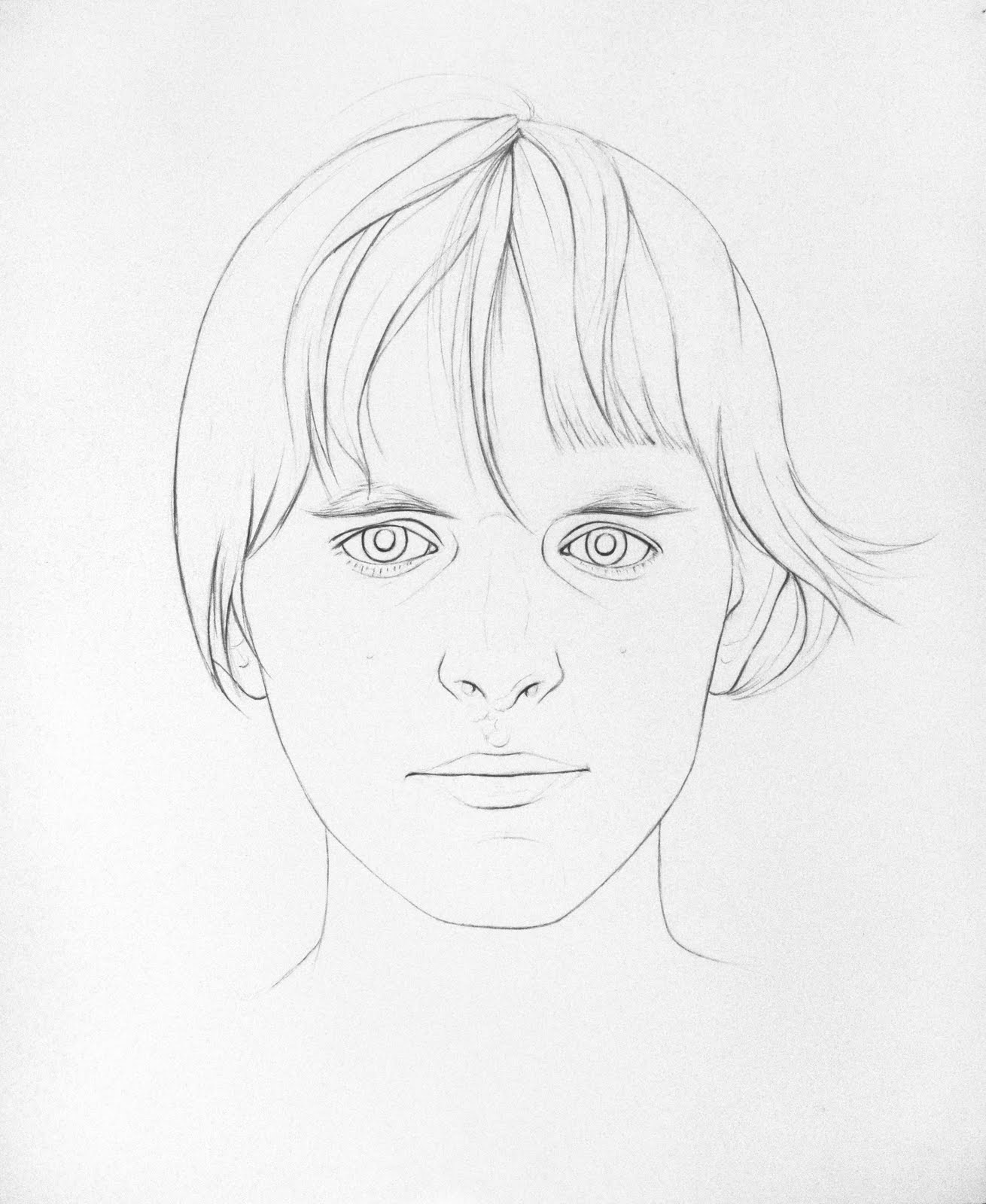Line Drawing Of Face : Obsessive thoughts work the face