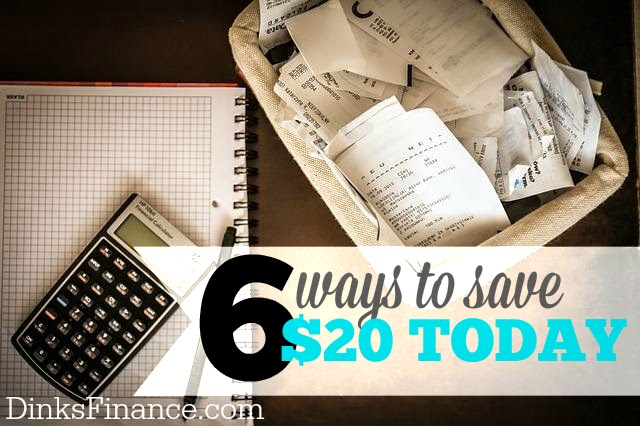 6 ways to save money today