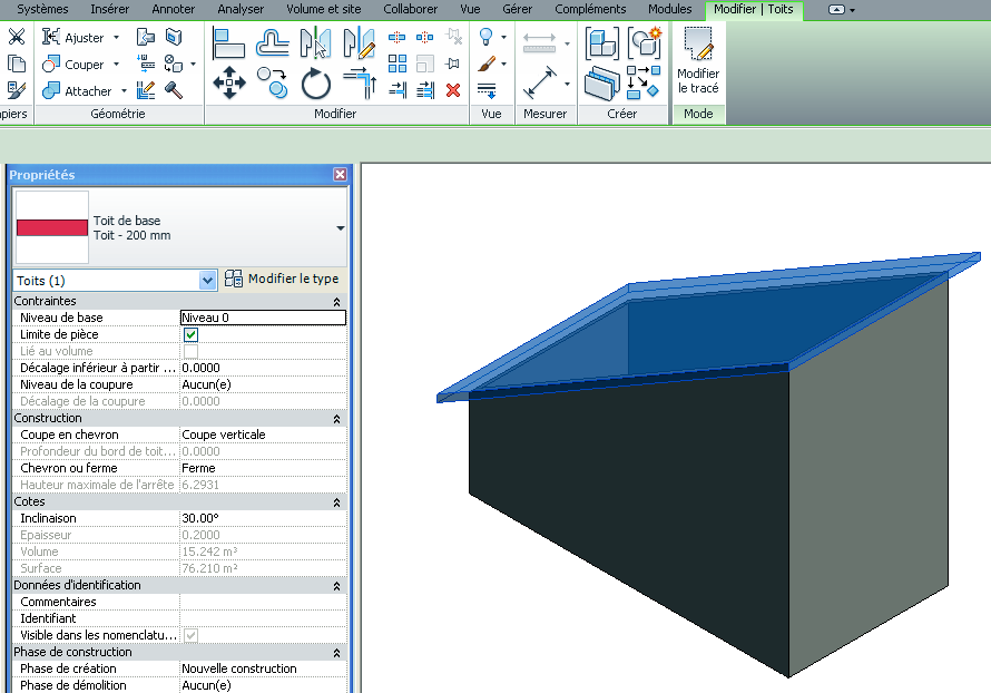 Revit m mo revit 2013 toiture diff rents types de toits - Different type de toiture ...