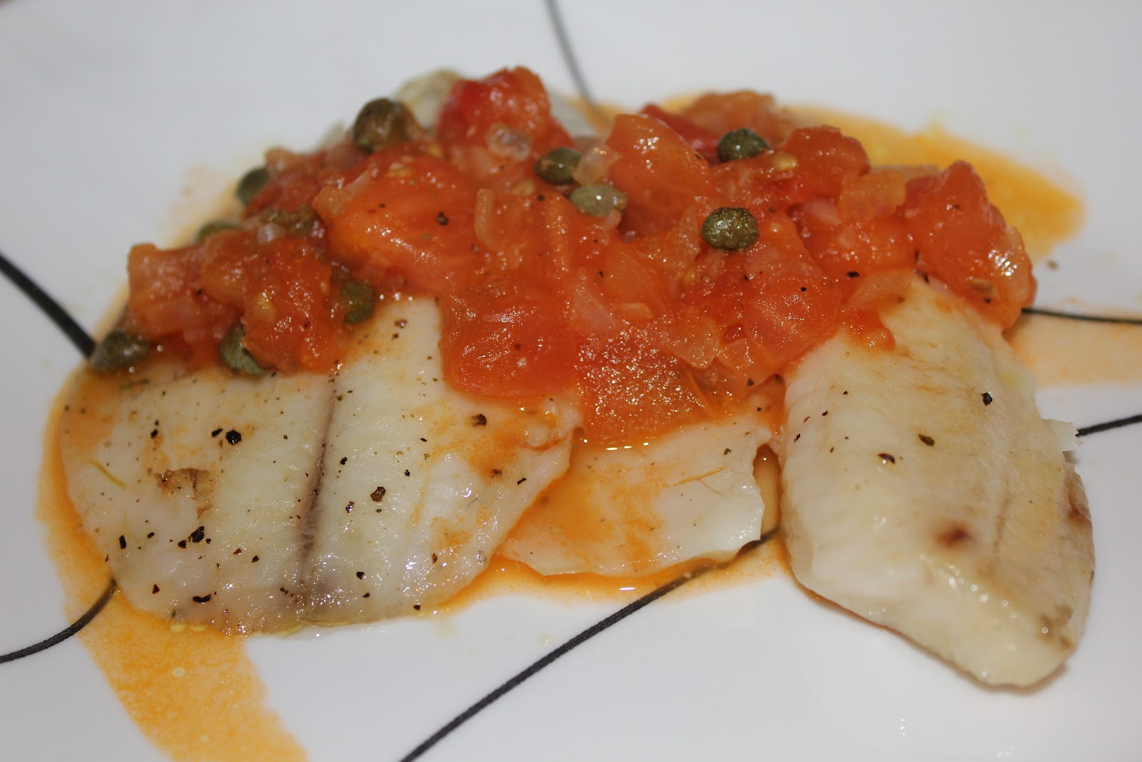 Jen's Food Adventures: Tilapia with Tomatoes Caper Sauce