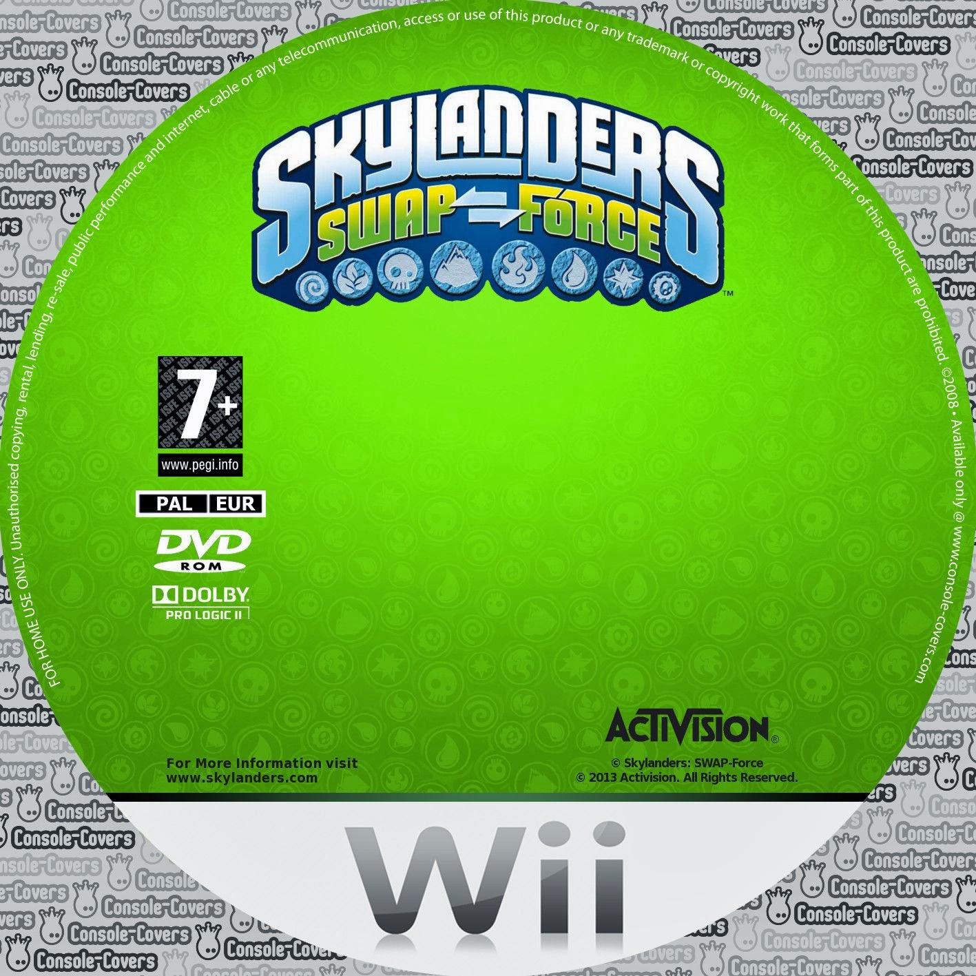 Label Skylanders Spyros Adventure Wii