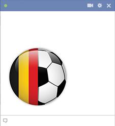 Belgium football emoticon