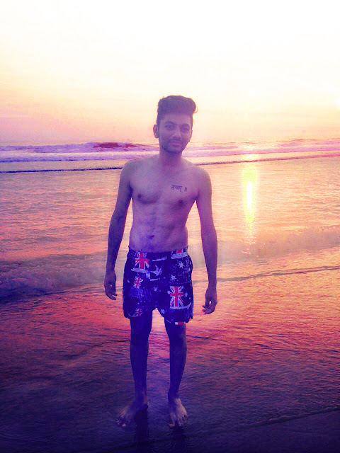 Wanderlust Sunset at Beach Sand-d Singh