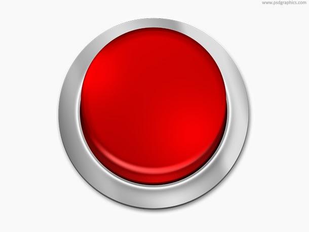 Blank Button Template PSD