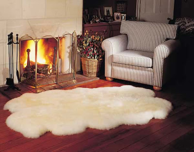 Interior Design And Decorating Sheepskin Rugs To