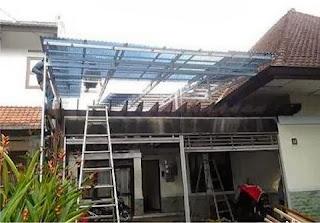 Pasang canopy baja ringan di Cikampek