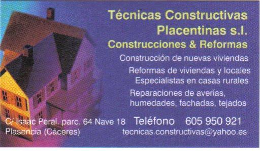 Técnicas Constructivas Placentinas s.l.