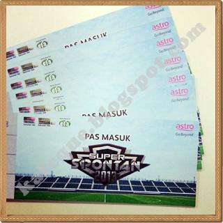 tiket masuk percuma super spontan 2013 astro, pas masuk percuma super spontan 2013, tiket free super spontan 2013