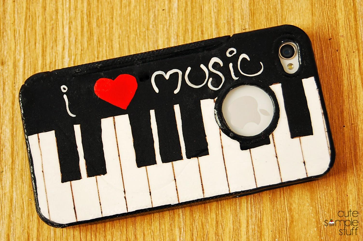 Cute Simple Stuff Diy Piano Cell Phone Case