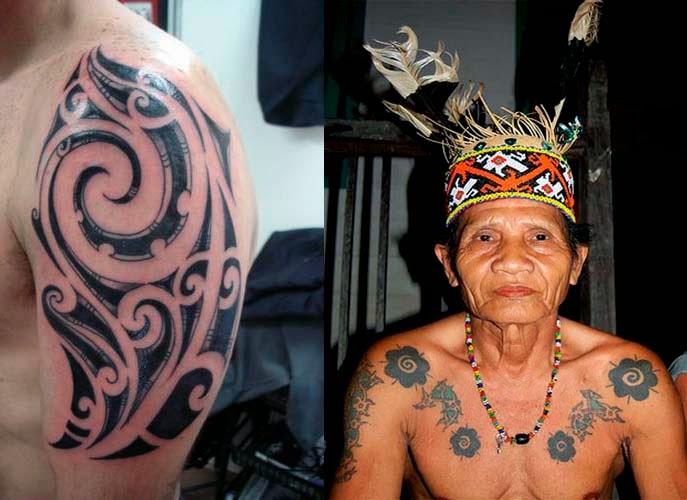 Tato dan Telinga Panjang sebagai Identitas Masyarakat