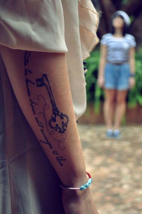 Drops of jupiter tattoo tuesday for Pretty key tattoos