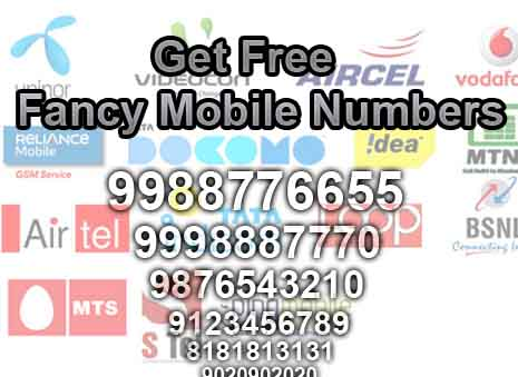 Get free fancy mobile numbers in india