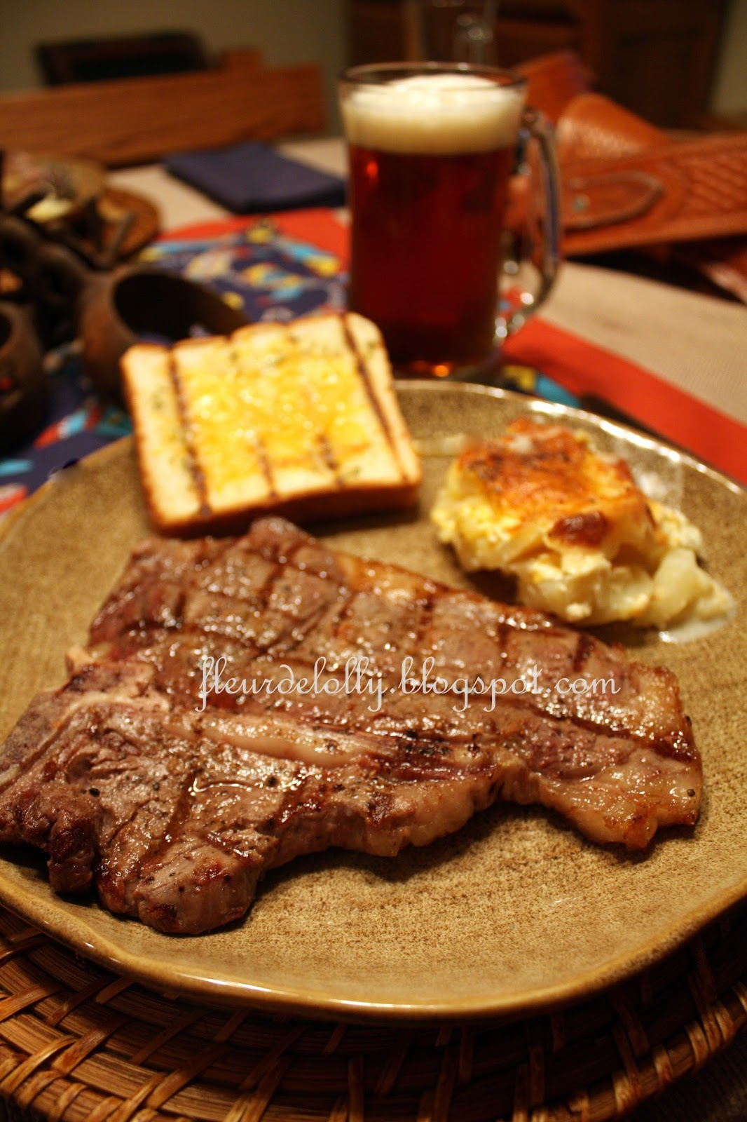Fleur de Lolly: Tennessee T-Bone Steaks with Whiskey Butter