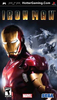 Free Download Iron Man PSP Game Cover Photo