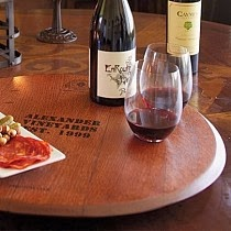 wine barrel lazy susan elegant classy and full of thought