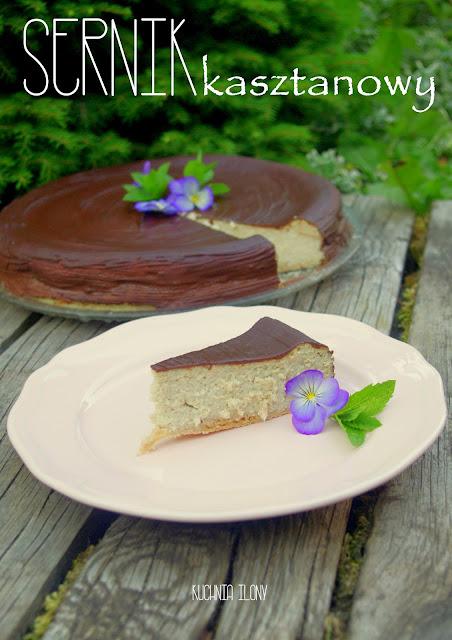 sernik, ciasto serow, kasztany, sernik kasztanowy, kuchnia ilony, sery, ciasto, deser, słodycze, urodziny,