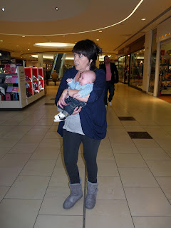 Great Auntie Lin takes Freddie around Lakeside