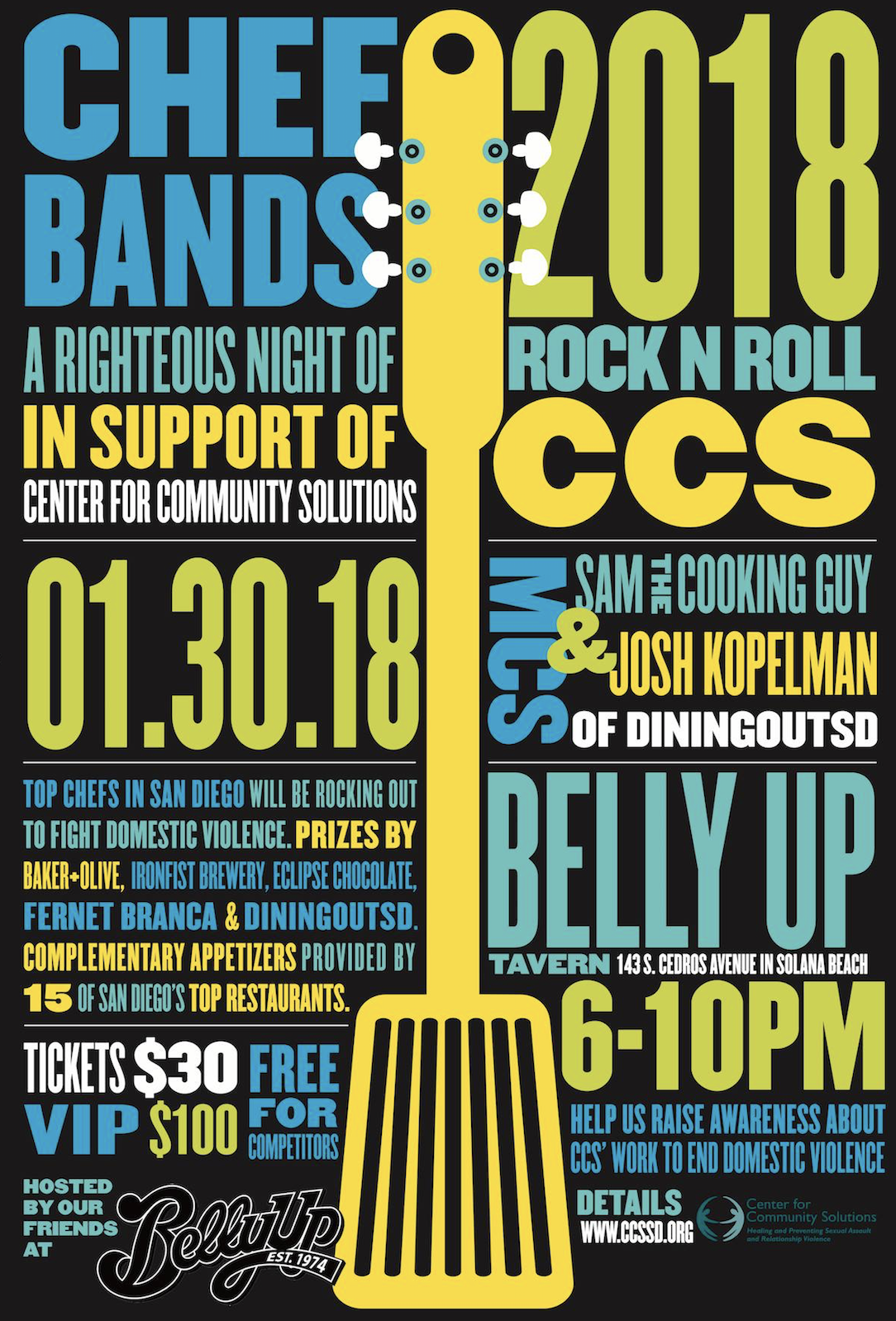 Don't Miss The 8th Annual Battle Of The Chef Bands - January 30!
